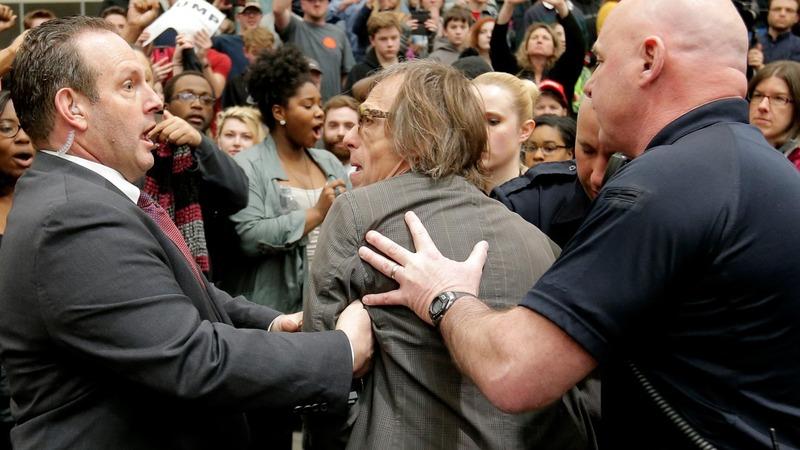Reporter choked at Trump rally