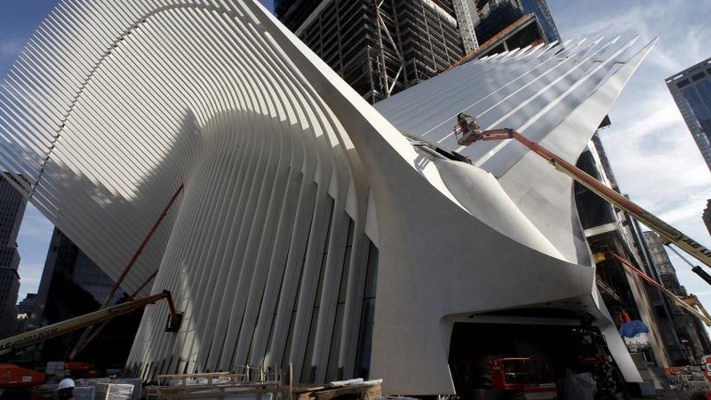 New World Trade Center transit center soars