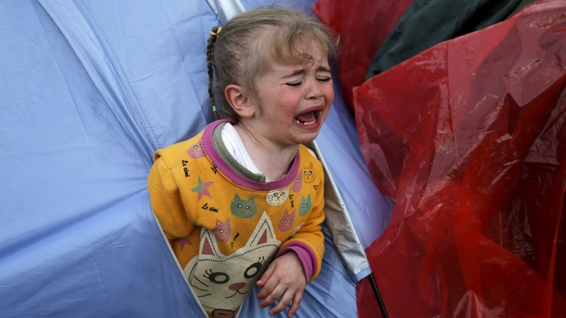 Kids fall ill as disease stalks migrant camps
