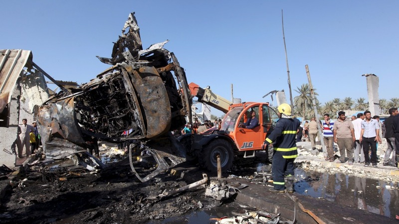 Islamic State blast kills 60 near Baghdad