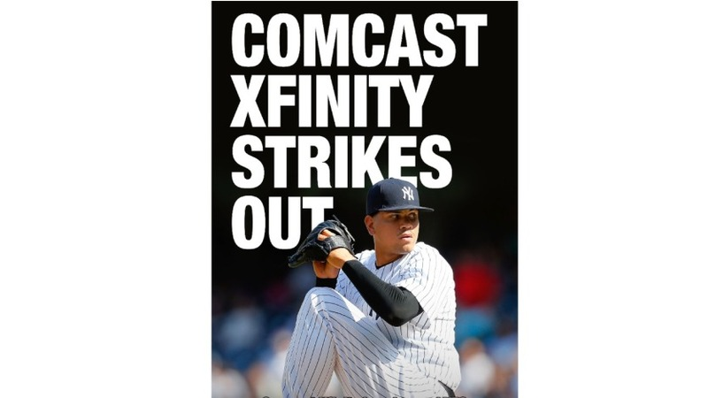 Yankees wage war against Comcast in ads