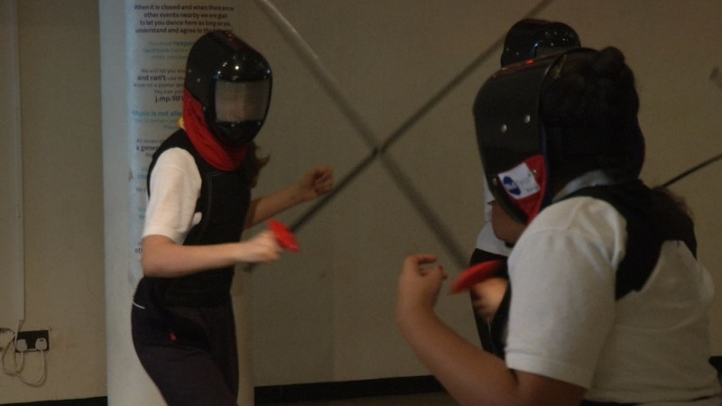 Muslim girls break stereotypes with fencing