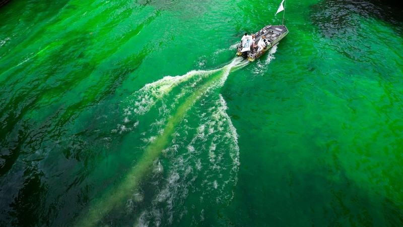 INSIGHT: Chicago dyes its river green