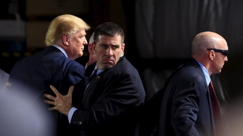VERBATIM: Secret Service shields Trump during disturbance