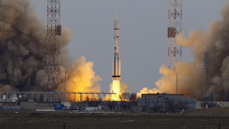 European probe blasts off for Mars