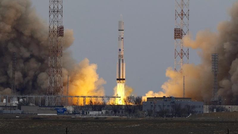 European probe blasts off for Mars