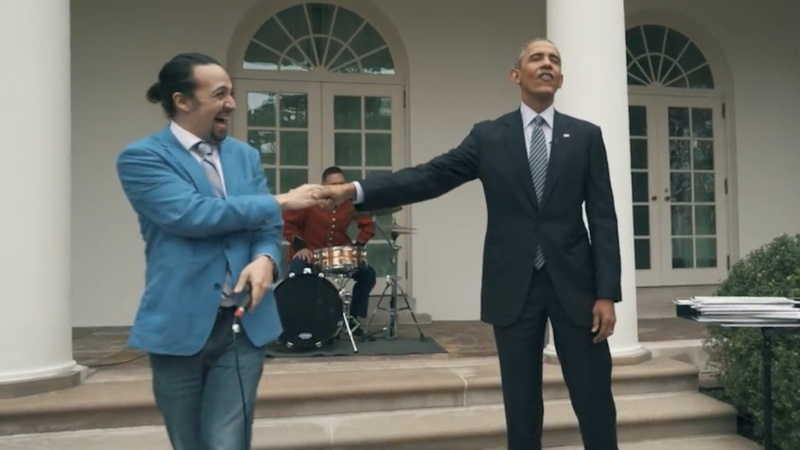VERBATIM: 'Hamilton' creator freestyles for Obama