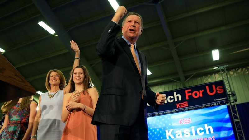 Kasich slows Trump's sprint to the nomination