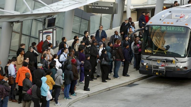 Commuter chaos in Washington D.C.