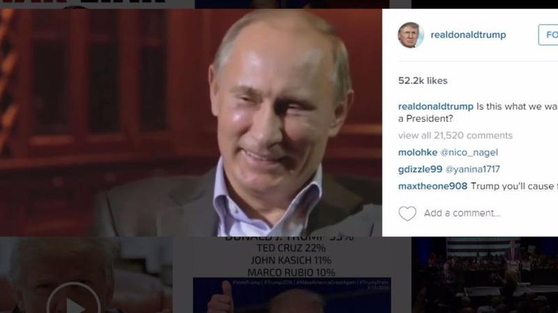 Trump's 'Putin clip' angers Russia