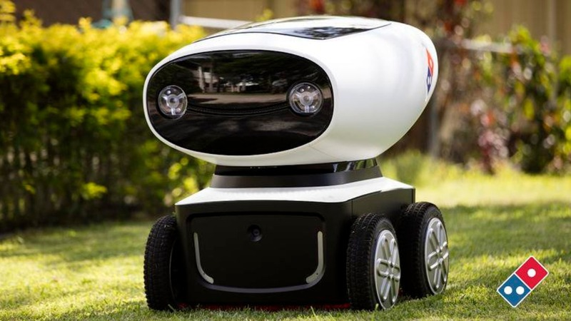 Domino's unveils robot delivery guy