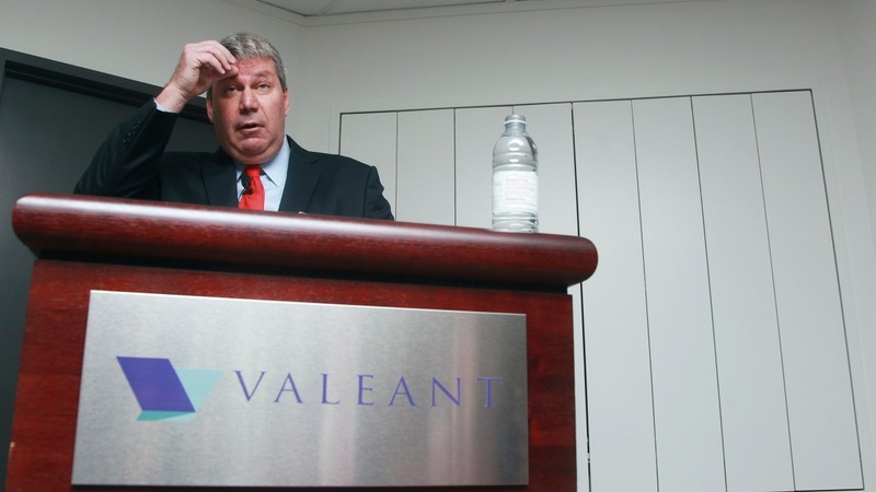 Valeant shares step up with CEO stepping down