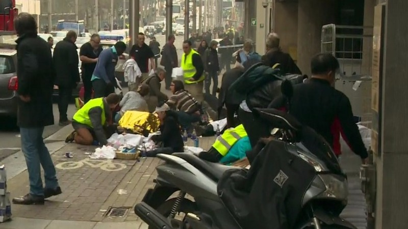 Many dead in Brussels airport, metro attacks