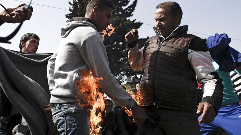 INSIGHT: Migrants self-immolate at Greek border