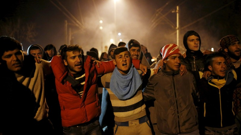 Border migrants protest, their fate unknown