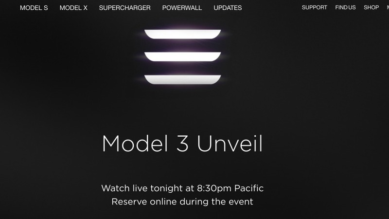 A tesla for the masses, and a lineup to get one