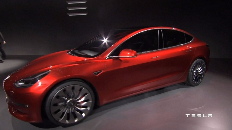 Tesla shares pumped by Model 3 demand