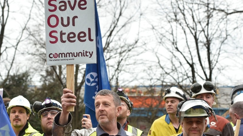 VERBATIM: Government hounded over UK steel