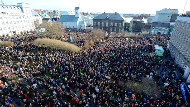 INSIGHT: Icelanders call on PM to resign