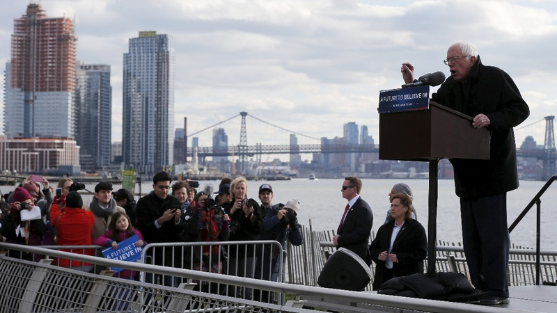 VERBATIM: 'We're ahead of Secretary Clinton'