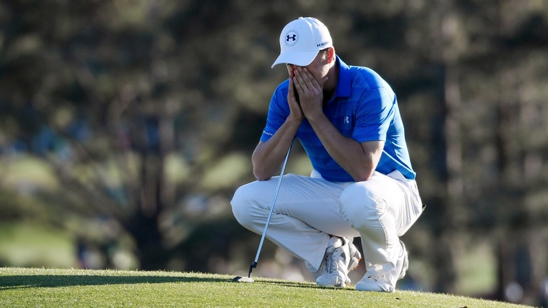 Golfer Spieth chokes and Under Armour drops