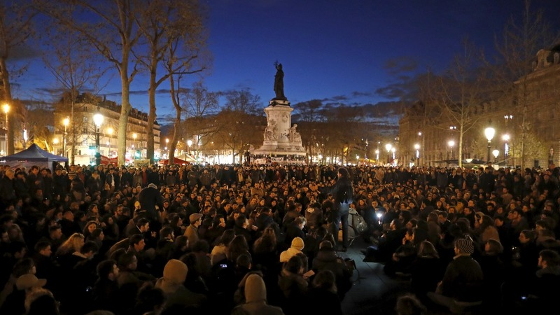 France offers aid as night protests continue