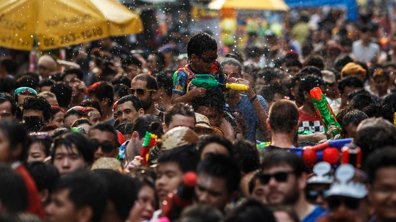 Thailand's water fest kicks off in a drought
