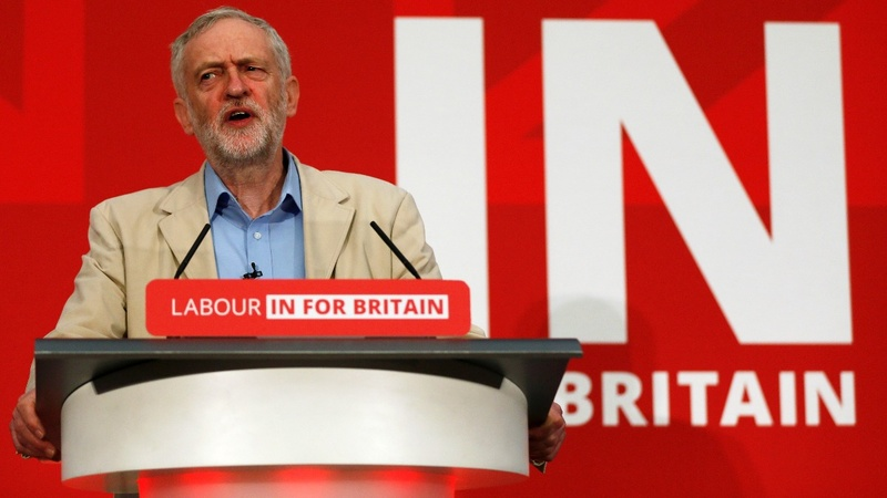 Once eurosceptic, now Corbyn backs 'in' vote