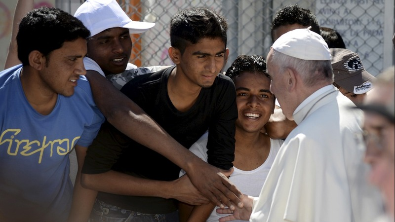 Tears flow as Pope visits Europe's refugee frontline