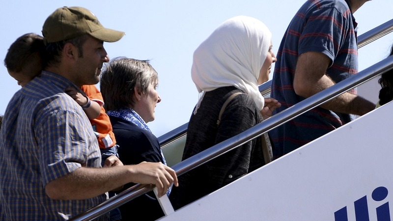 Pope brings 12 refugees to Rome