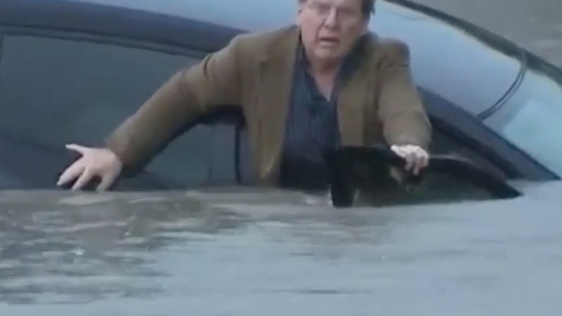 INSIGHT: Man escapes sinking car in Houston flood
