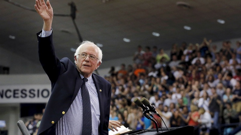 Behind in delegates, Sanders ahead with donors