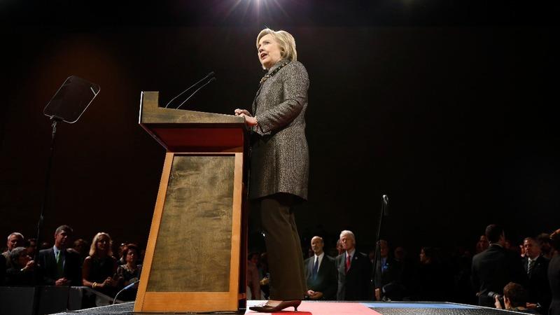 VERBATIM: Clinton celebrates, praises Sanders