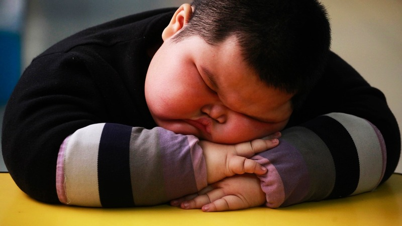 Children in China grow fat on western habits
