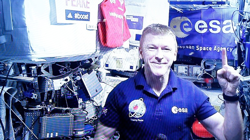 Tim Peake's test drive from space