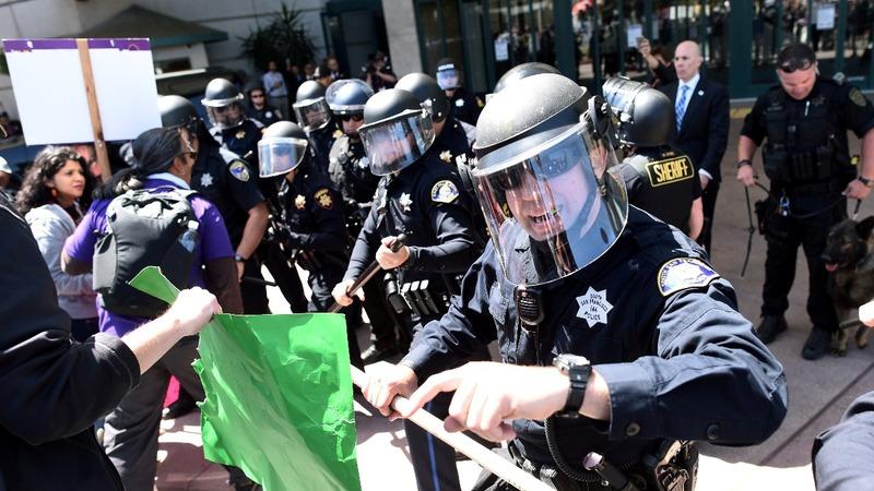 Immigration dominates Trump's California visit