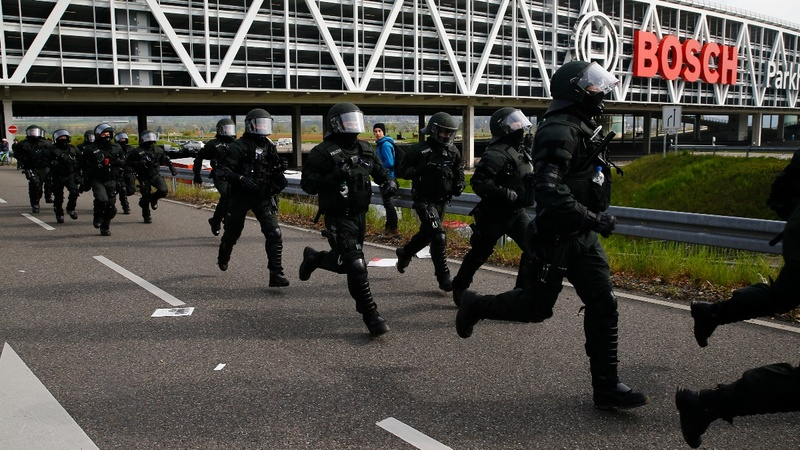 Protests in Germany outside AFD convention