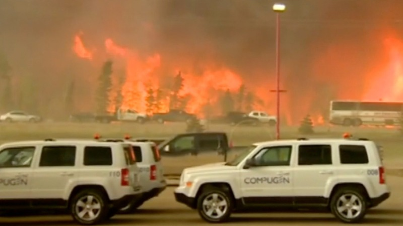 Alberta wildfires force mass evacuation