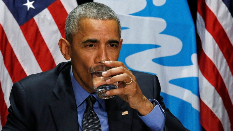 VERBATIM: Obama drinks Flint water
