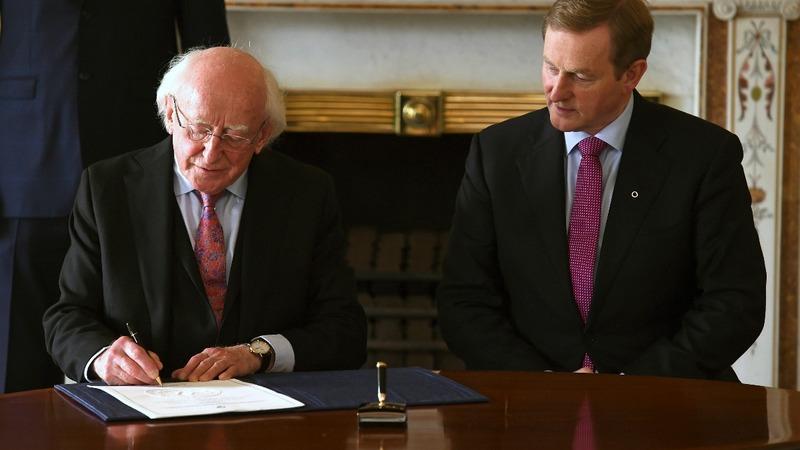 Kenny re-election ends Irish deadlock
