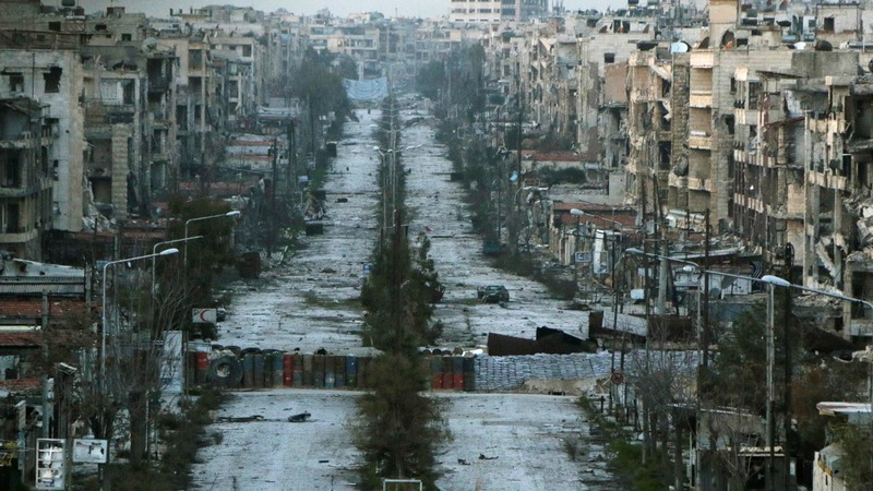 Residents of Aleppo rebuild during ceasefire