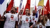 Protests in Greece ahead of austerity vote