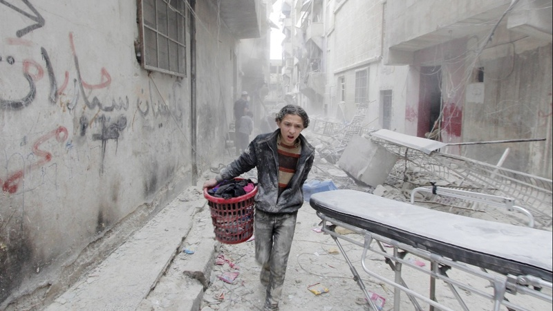 Syrian forces battle rebels near Aleppo