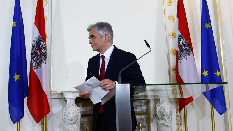 Austrian Chancellor Faymann steps down