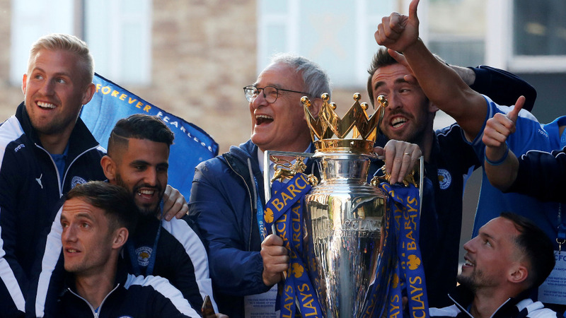 Leicester's unlikely heroes return home