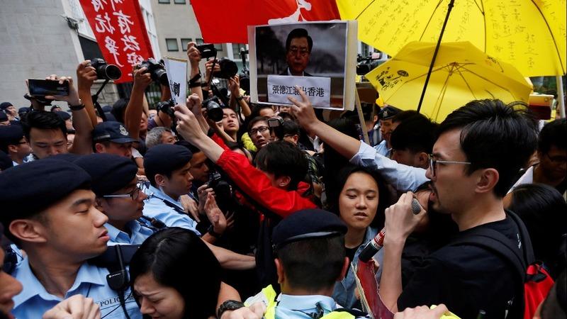 Chinese speech falls on deaf ears in Hong Kong