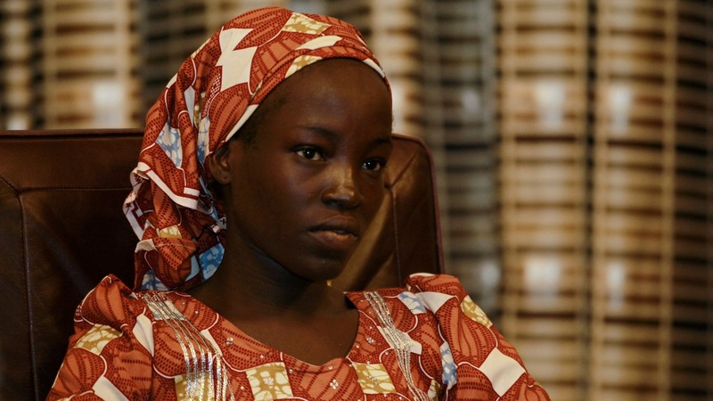 Rescued Chibok girl and her baby meet President