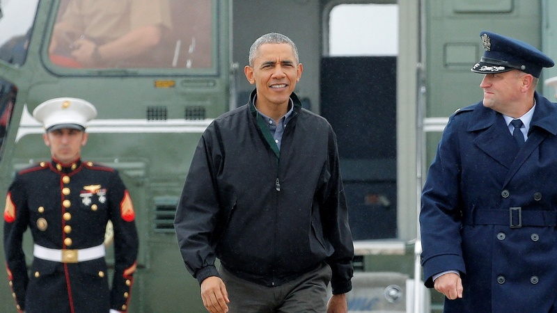 Obama arrives in Asia