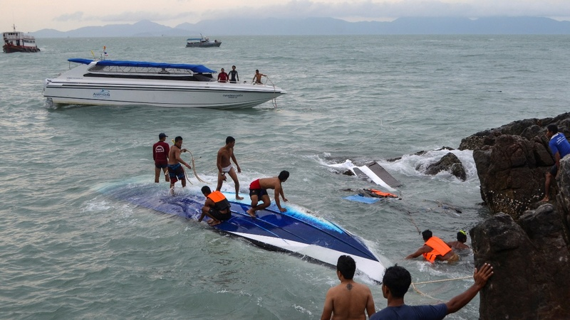 Deadly speedboat crash in Thailand