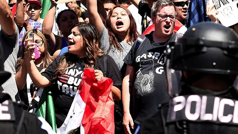 INSIGHT: Protesters arrested at Trump rally